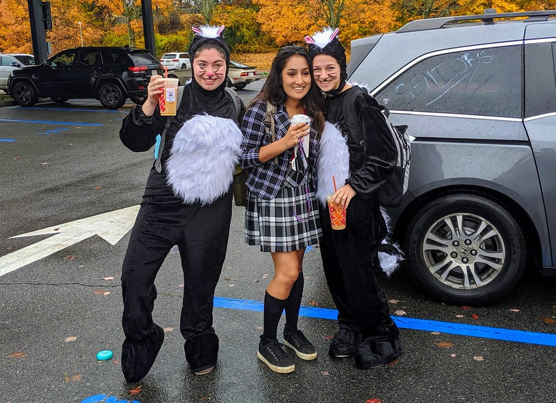 Seniors+Sam+Baron+%28left%29%2C+Serina+Patel+%28middle%29%2C+and+Mallory+Leonard+%28right%29%2C+dress+as+skunks.+They+arrive+in+the+parking+just+after+making+their+morning+Dunkin+Donuts+run.+%22What+inspired+%5Bthis+costume%5D+was+the+headpieces+we+found%2C%22+Leonard+said.+At+WHS%2C+masks+are+not+permitted.++%22We+cheated+the+system+a+little+bit%2C%22+Baron+said.%0A%0A%3Ciframe+width%3D%22100%25%22+height%3D%22300%22+scrolling%3D%22no%22+frameborder%3D%22no%22+allow%3D%22autoplay%22+src%3D%22https%3A%2F%2Fw.soundcloud.com%2Fplayer%2F%3Furl%3Dhttps%253A%2F%2Fapi.soundcloud.com%2Ftracks%2F706090390%26color%3D%25238c8c8c%26auto_play%3Dfalse%26hide_related%3Dtrue%26show_comments%3Dfalse%26show_user%3Dtrue%26show_reposts%3Dfalse%26show_teaser%3Dfalse%26visual%3Dtrue%22%3E%3C%2Fiframe%3E