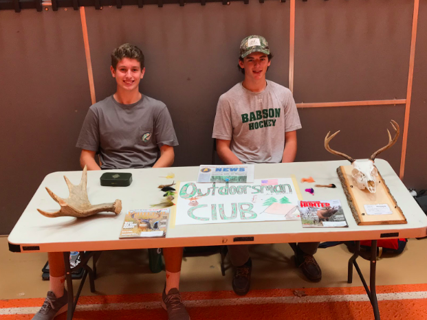 """Juniors Joe Tardif and William Munroe created one of the many new clubs at Club Fair this year. They hope that Outdoorsman club will be very successful at Wayland High School. """"I dont know anyone in my grade, or even the school, who have gone hunting,"""" Tardif said. """"I know fishers, but I know no one who is serious about hunting and conservation as I am, and I'd love for people to learn and understand my passion."""""""