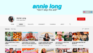 "Pictured above is Long's channel. WMS eighth grader Annie Long is a lifestyle / commentary YouTuber and has amassed over 93,000 subscribers. ""Every single day, I figure out a new thing about business, or how to edit,"" Long said. ""[Since I started so] young, I feel like my knowledge [about] YouTube is so much larger [now], and it just keeps on growing."""