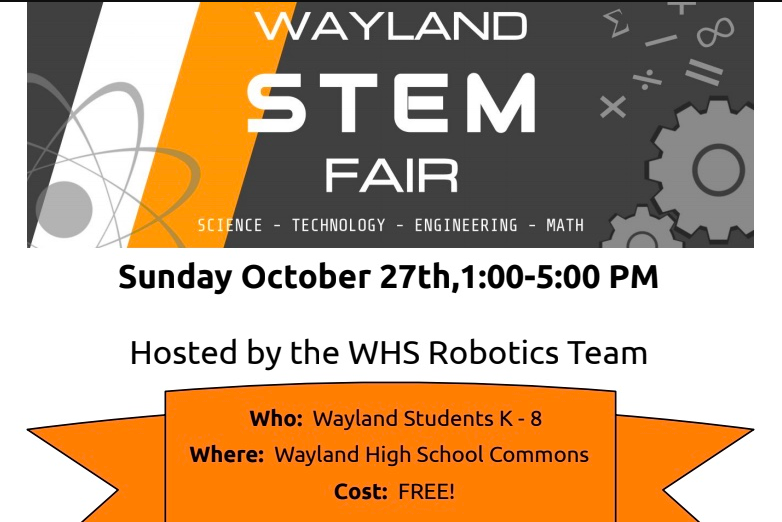 STEM fair will be held in the WHS Commons on Sunday, Oct. 27 from 1 p.m. to 5 p.m.
