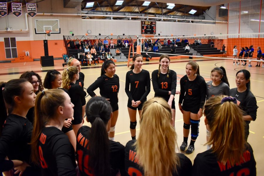 The varsity girls volleyball team played their final DCL match on Thursday Oct. 24. The team won three of four sets against Bedford.