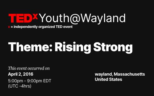 News Brief: WHS TEDx 2020 Looking For Speakers/Volunteers