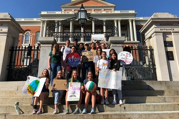 WHS students outside the Massachusetts State House during the September climate strike. WSPN's Atharva Weling analyzes the effects of climate strikes and what else students can do to help save our planet.