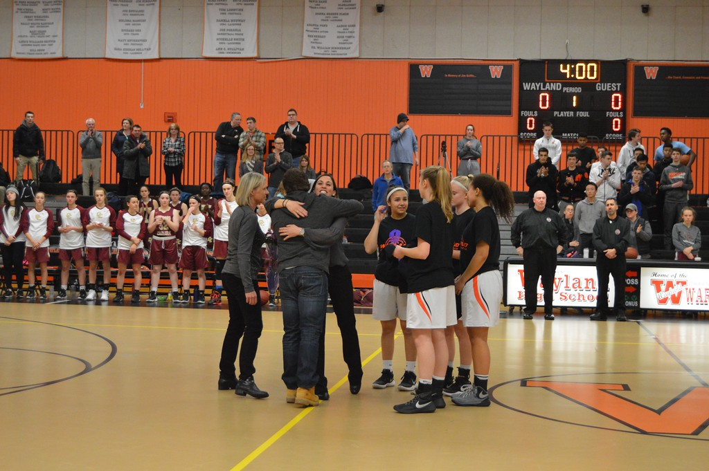 In past years, the coaches vs cancer game has honored not only Jim Griffin, but recent Wayland residents who has lost a family member from cancer. A couple of years ago, the game recognized the Schwartz family for their loss of  father and husband Eric Schwartz.
