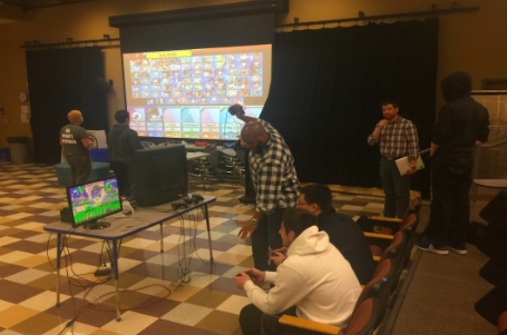 "Participants of the video gaming event held during second block last Friday battle each other in a game called Super Mario Smash Brothers. ""I hope [students] have fun playing Smash,"" event organizer Erik Swanke said. ""Maybe we'll get more people for the club."""