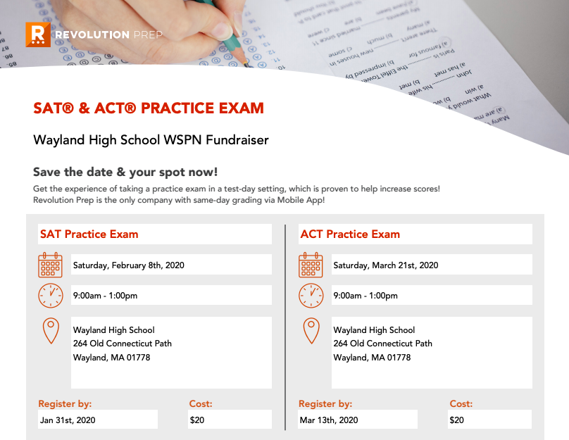News Brief: WSPN hosts practice SAT, ACT fundraiser