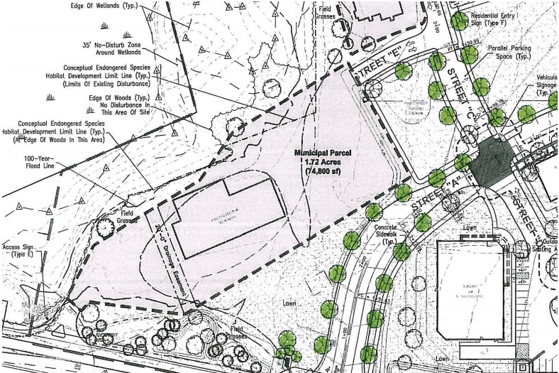 "Pictured above is the proposed blueprint for the new community center. The building would be constructed right next to the Wayland Town Center with access from Route 20. ""[We felt as if] we needed to provide the seniors in town with a place where they could go and do a lot of activities,"" said former finance committee member Bill Steinberg."