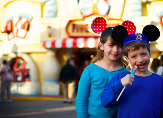 Bella and Jack Batts, age 6, visit Disney Land.