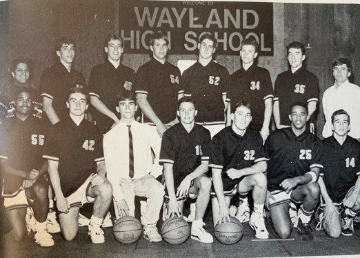 The 91' team gets together for a picture prior to a home game. One of the main reasons for the team's success was the bond it had.