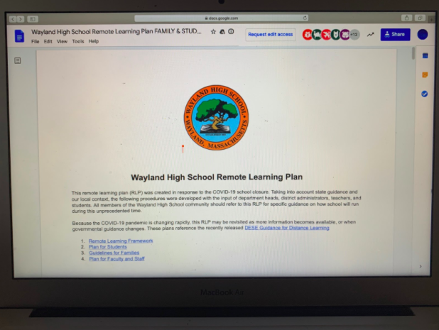 On Friday, April 10, WHS Principal Allyson Mizoguchi sent out an email with a link explaining the WHS Remote Learning Plan, or the RLP. The RLP will start on Monday, April 13, and the work will be evaluated, unlike the enrichment work that students have had since March 13.