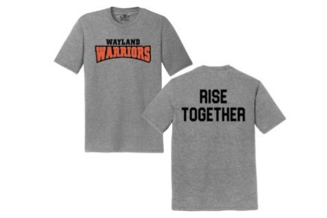 An image of the t-shirts design shown in the gray color. The shirt is also available in white.
