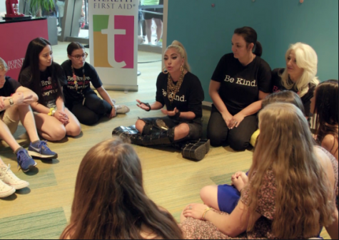 Pictured above is Lady Gaga and Born This Way Foundation Team at Teen Mental Health First Aid Youth Convening. Founded in 2012 by Lady Gaga and her mother, Cynthia Germanotta, BTWF has been working to create a kinder and braver world with the younger generation by helping them share their inspiring stories with the world.