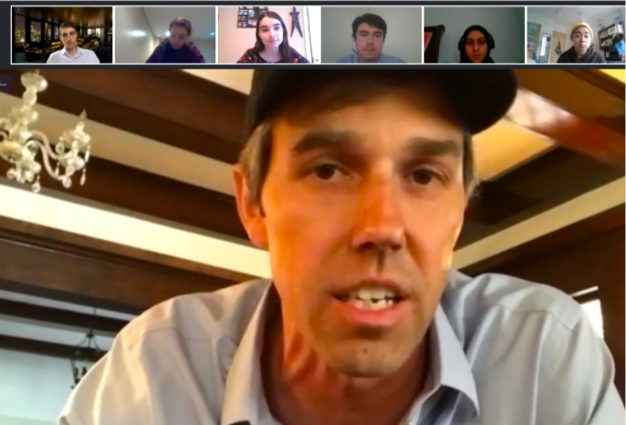 "During the COVID-19 stay at home orders, WSPN's Max Brande and Kate Clifford experienced a Q&A session with politician Beto O'Rourke. ""[Trump] has really pitted some people against others."""
