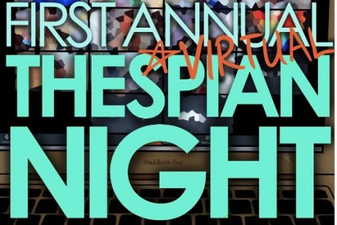 "The Wayland High School Theater Ensemble performs virtually in their first annual (virtual) Thespian Night. The event featured student performances, senior testimonials, and emcee clips. ""They did an incredible job,"" fine arts teacher Aiden O"