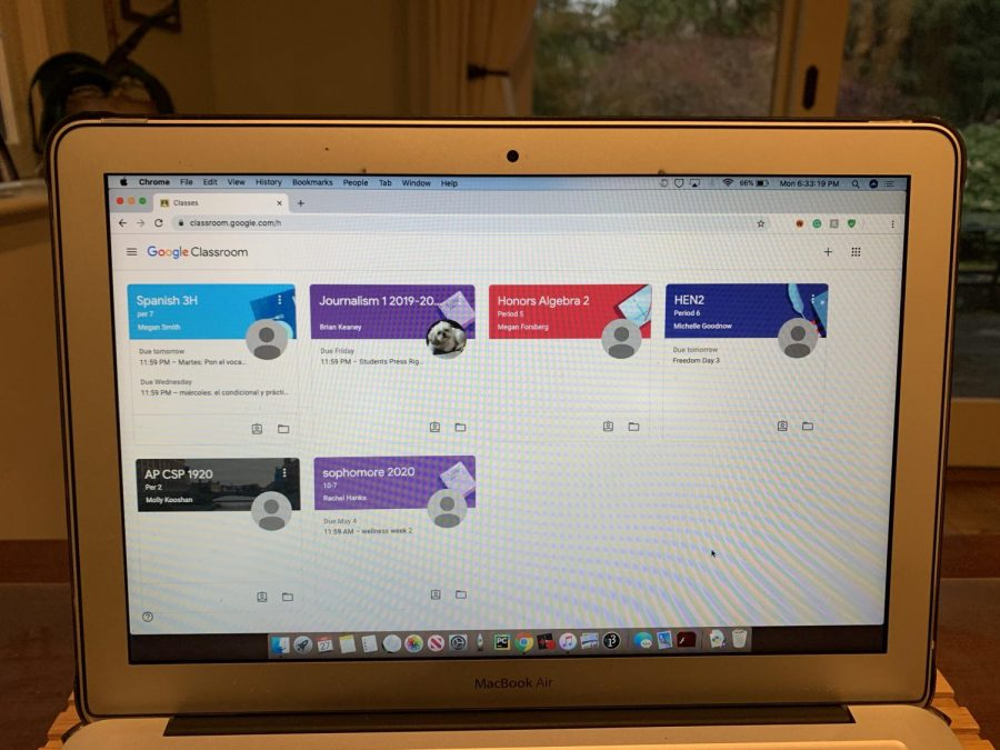 With school turning online for the rest of the year, teachers are forced to assign work via online applications like Google Classroom.