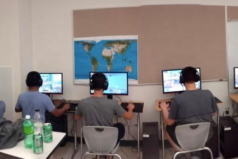 """The Wayland High School Esports during a practice last year. The team is kicking off their season this  year and looking for new members. """"To those looking to join the eSports team: do it! Go for it!"""" Junior Donovan Edwards said. """"We always welcome new members; skill means nothing here."""""""
