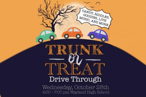 """WHS Tri-M Music Honor Society will hold its annual Trunk-or-Treat on Wed. Oct. 28, from 4 to 7 p.m. at the WHS parking lot. This year, the event is a drive-through where the attendants can celebrate the Halloween spirit safely. """"I hope that people will enjoy receiving treats and trinkets and feel connected with the rest of the community,"""" Tri-M treasurer junior Hannah Han said."""