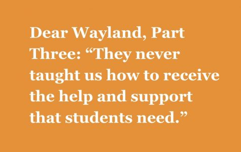 """Part Three: """"They never taught us how to receive the help and support that students need."""""""