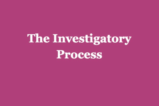 The Investigatory Process