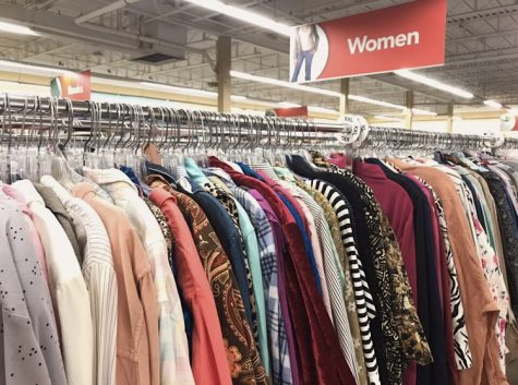 "Thrift shopping has been rising in popularity among consumers as a sustainable fashion movement. ""Thrifting is a much better alternative than contributing to mass corporations that overproduce and waste clothing,"" senior Maya Baranovsky said."