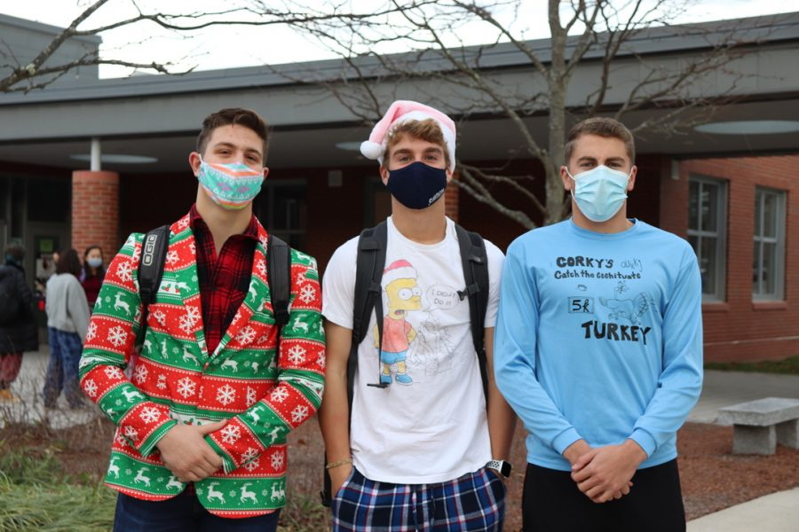 During Spirit Week, juniors Luciano Sebastianelli, Ryan MacDonald and Zach Mittelsteadt all come to school dressed in clothes for their favorite holiday.