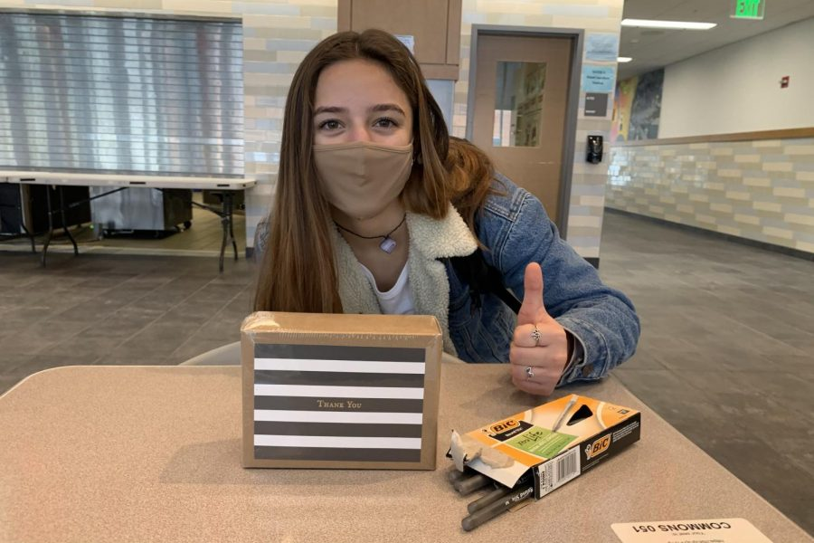 "As a part of Kindness Month during December at the high school, many students opted to write thank-you cards to their teachers which were provided by the Student Council. ""Over the course of the week, we"