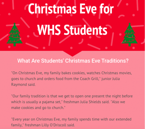 With Christmas only one day away check out how students and their families celebrate the day before.