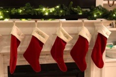 A common holiday tradition is to hang stockings on the mantle of the fireplace as decorations before Christmas. On Christmas day, they are the first gifts opened for many families. Stockings keep the holiday spirit alive for the coming weeks before the big day.