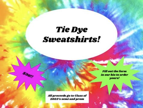 """The sophomore class is holding a tie-dye sweatshirt fundraiser to raise money for the sophomore semi-formal in the fall. WHS e-boards are currently working to raise funds for future events, even during uncertain times with COVID-19. """"We have sold sweatpants, masks, tie-dye sweatshirts, and we are currently holding an NFL playoffs predictions contest."""" sophomore Madeline O"""