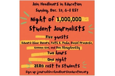 The Boston Globe writer John Vitti offered a virtual event, The Night of 1,000,000 Student Journalists, on Dec. 13. Here is an overview of the speakers and their messages.