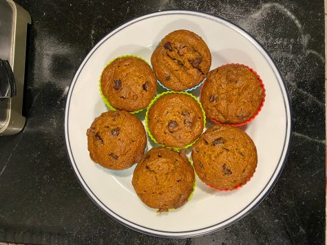 Step Seven: Remove muffins from the oven and let them cool on a baking tray. Enjoy!