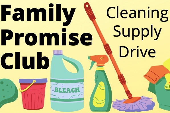 "The Family Promise club, started by junior Maeve Myles and sophomore Elena Liu, is running a cleaning supply drive for Family Promise MetroWest. Donations can be dropped off in a bin outside the Wayland High School main office.  ""As a club, we strive to help others and support local homeless families through the Family Promise Metrowest organization,"" Myles said."