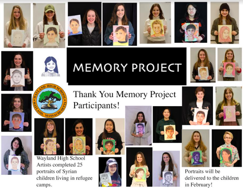 Latimer creates a gallery of the portraits WHS sent to Syria in 2018.