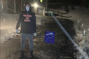 """Due to earlier snowfall, recent WHS alumnus Josh Snyder initiated a local snow shoveling business, Wayland SnowBusters. Snyder and his team take advantage of the frequent snowfalls to help local families clear their driveways, walkways, stairs and more. """"I did a lot of research on similar businesses, took the things I liked and fixed the things I didn't,'' Snyder said."""