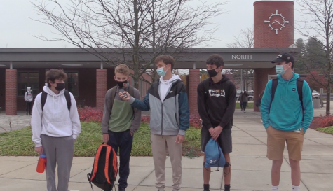 A group of WHS freshmen stand in their new school