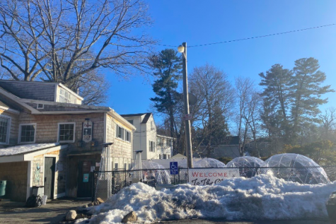"""With takeout options available, the Dudley Chateau offers meals for the go. WSPN's Emily Roberge reviews the well-known Wayland restaurant. """"The Chat is my favorite restaurant in Wayland,"""" sophomore Charlotte Richter said. """"I order take-out from there all the time."""""""