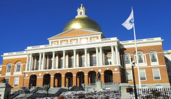 The Massachusetts State House stands on Beacon Hill. Mandates from the Commissioner of Elementary and Secondary Education have forced schools to revert to all-in person, five days a week learning in April. If the schools don't comply, they could lose funding or be liable to legal action from the state.
