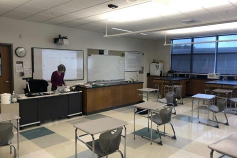 "Because of COVID-19 restrictions, many aspects of science classes are different this year. One major change in the curriculum is the lack of interactive labs. The decision to restrict these hands-on activities stemmed from the goal of  keeping students safe while they attended school in-person.""It was just too complicated figuring out how to have students share chemicals, share balances, and there's a lot of different glassware and collaboration that goes on, so people would be really close and there'd be a lot of contact,"" chemistry teacher Jennifer McGuinn said."