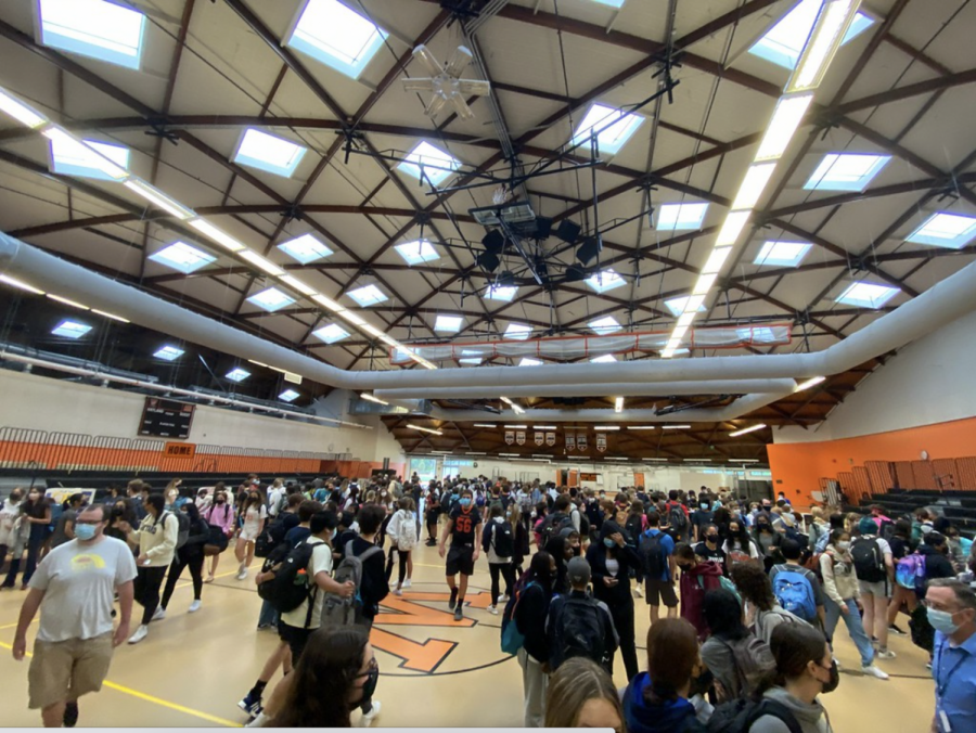 This year, student council planned club fair to be outside without masks, but due to the weather clubs were divided into the field house and commons. Still, many expressed in was an upgrade from last years fully online club fair.