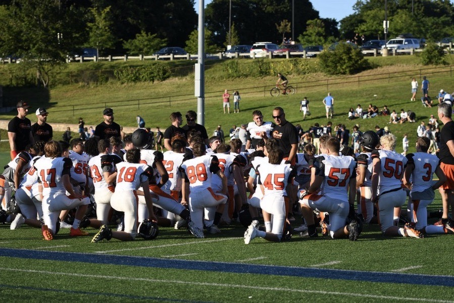 The Wayland Warriors started off their season with a huge 40-6 win over Hopkinton. They will face off against Amesbury this upcoming Friday.